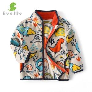 SVELTE для 2-14 YRS Boys Fleece Куртки моды Печатные узоры Падение Осень зима Верхняя одежда Весна Кардиган Куртки LJ200820