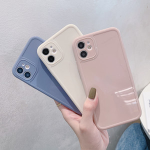 2020 INS Vendita calda Semplice Colore solido Soft TPU Case per iPhone 12 12Pro 6 7 8 x XR 11 Pro Max Leggero Antiurto Antiurto all'ingrosso DHL