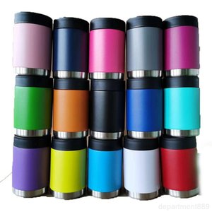 12oz many Colors Coke Cans Water Bottle Stainless Steel Tumblers Coffee Mugs Milk Vacuum Cup with Lid OWC2783