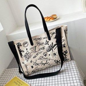 Designer-Pink sugao designer handbags women large shoulder bag 2020 new fashion tote bag crossbody Graffiti with Art Canvas bag