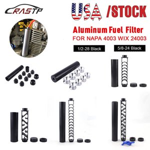 """USA Stock Stock 6 """"Zoll / 10 Zoll Spirale 1/2-28 5/8-24 Einzelkern Aluminiumrohrauto Kraftstofffilter Lösungsmittelfalle für NAPA 4003 WIX 24003 Filter"""