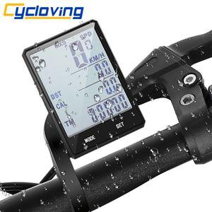 """Cycloving Fahrrad-Computer-Fahrrad-Tachometer 2.8 """"Touch-Radfahren Wireless-Kilometerzähler Wasserdichte Zyklus-Stoppuhr 201120"""