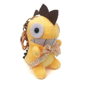 Fashion Lovely Bowknot Динозавр Плюшевые Куклы Ключ Кольцо Игрушки Женщина Сумка Подвески Trinket Динозавр Игрушка Брелок Детская Партия Подарок SQCGNE Home2006