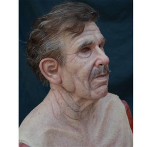 NOUVEAU Old Man Creepy Wrinkle Masque Halloween Costume Realistic Latex Masquerade Carnaval Hommes Visent