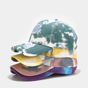 Fashionable Tie-Dyeing Unisex Ball Caps Hats Hip-hop Street Fashion Snapback Hats Cotton Sun Protective Basketball Caps Gifts 8 Colors