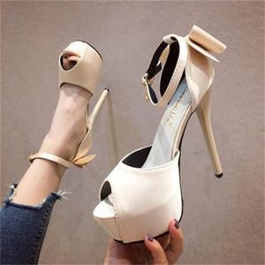 2020 빨간색 하이힐에 샌들 참조 Satin Bows Sex Appeal 여성용 결혼식 신발 VM6S