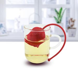 Rose Forma Chá Infusor Alimento Grau Silicone Tea Coador Criativo Chá Difusor 5 Cores Frete Grátis 186 K2