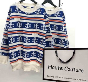 Womens Fashion Sweaters Casual Letters with Spear Pattern Sweater 2020 New Oversize Womens Clothes Jumpers High Quality
