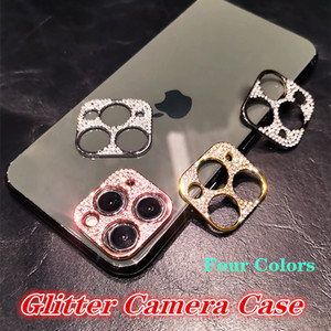Top Selling Shiny Camera Lens Protector Capa Para iPhone 12 Pro Max iPhone 11 Bling Strass Câmera Capa traseira