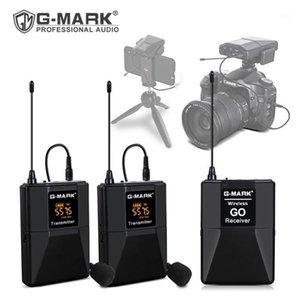 G-Mark Wireless Go Asmr Micrófono Lavalier Mic para teléfono Cámara DSLR Camcorder YouTube Facebook Live Vlog Grabación1