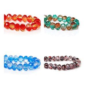 DoreenBeads Facettierte Crackle Glas Lose Perlen Für Schmuck DIY-Erkenntnisse Bunte Perlen Handgemachte Halskette Ohrringe Komponenten
