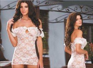 Avrupa Birleşik Devlet Streç Güller Dantel Şeffaf Nightgown