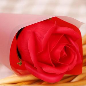 Flor de plástico Regalo de boda de boda Colores de color múltiple flor ramificada con estilo romántico romántico flor de plástico grande con caja de envasado EEF4022