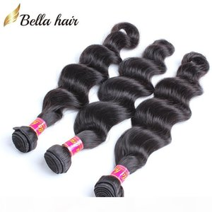 Peruvian Virgin Human Hair Weft Weave Extensions Natural Color Virgin Hair Bundles Loose Deep Wave 3PCS Bellahair Bulk Wholesale
