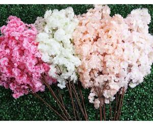 6pcs Fake Cherry Blossom Flower Branch Begonia Sakura Tree Stem for Event Wedding Deco Artificial Decorative Flowers