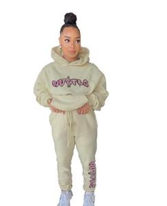 Outfit Autumn Long Sleeve Letter Print Hoodies Pants 2PCS Set Fashion Women Designer Tracksuits Woman 2 Piece