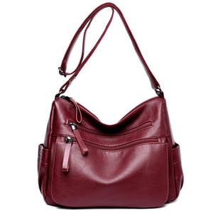 Many Pocket Big Crossbody Bags For Women 2020 Sac A Main Femme Leather Luxury Handbags Women Bags Designer Handbags High Quality