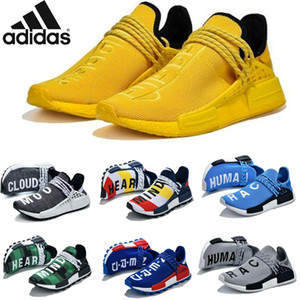 high quality 2020 new NMD Human Race Men WomenRunning Shoes Pharrell Williams Sample Yellow Core Black Casual Shoes Women Sneaker