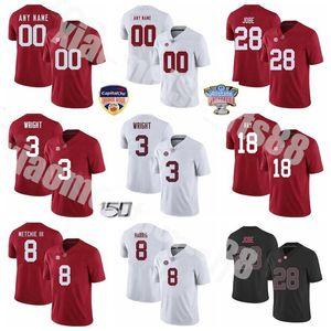 NCAA Alabama Crimson Tide College Football 3 Daniel Wright Jersey 28 Josh Jobe Christian Harris Labryan Ray John Metchie III мужчины женщин детей