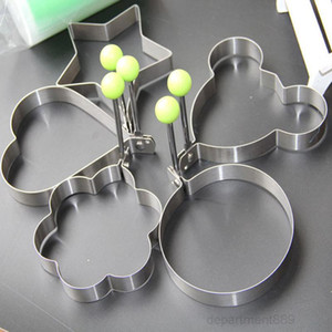 Stainless Steel Fried Star Heart Shaper Pancake Mould Creative Flower Frying Egg Mold Kitchen Cooking Baking Tool OWD2731