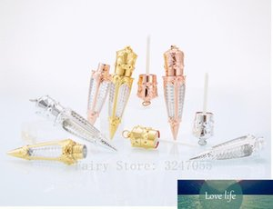 1 2pcs 5ml Empty Carrot Shape Lip Gloss Tube,DIY Rose Gold Gold Silver Liquid Lipstick Bottle,Refillable Lipgloss Container