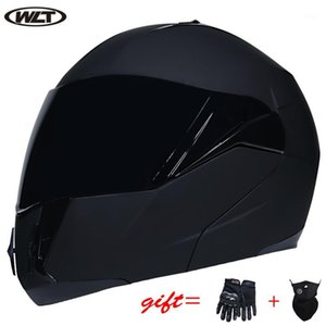 Capacete de moto Double Sun Visor Flip Módulo Capacete Ponto Certificado Off-Road Racing WLT-168 All-Weather1