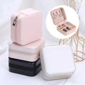 New PU Leather Jewelry Box Travel Jewelry Organizer Multifunction Necklace Earring Ring Storage Boxs Exquisite Gift For Girlfriend