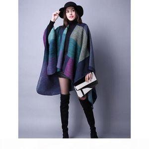 20New Brand Women's Winter Poncho Vintage Blanket Women's Lady Knit Shawl Cape Cashmere Scarf Poncho free shipping