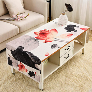 New Chinese Style Ink Table Cloth Tablecloth Household Living Room Rectangular Classical Coffee Table Cloth with Storage Bag