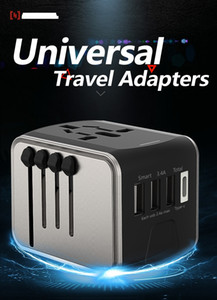 wholesale mobile phone accessory universal C type travel adapter phone accessories mobile US EU UK AU Charger USB 4-in-1 Plug & Socket