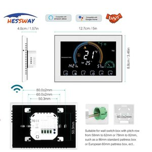 Lab Supplies Baseboard Heating Adjust Thermal Power Thermostat WIFI For English Spanish Italian French German Operating Instructions Support