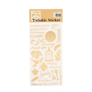 2016 ing Twinkle Daily Decorative Washi Stickers Scrapbooking Stick Label Diary Stationery Album Stickers Golding Twinkle h