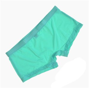 2021 high quality Super thin ice silk mens sexy underwear boxers shorts men's low rise seamless gay underwears men boxer