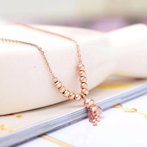 Lucky Fortune Fortune Ping anklet plated gourd bead-piercing jewelry titanium steel jewelry 18K rose gold An LYNzP