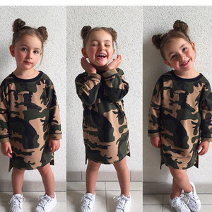 INS Newest Kids Camouflage Baby Clothes Kids Clothing Girls Summer Jumpsuit Boys Girls Infant Pajamas Clothes Knee Length Dresses