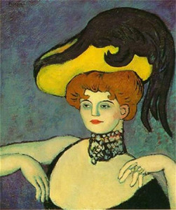 Pablo Picasso Courtesan With Necklace Of Gems Home Decor Handpainted & HD Print Oil Painting On Canvas Wall Art Canvas Pictures , F201206