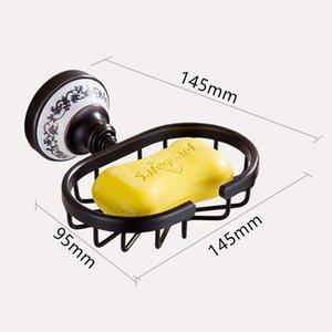 Настенные монтируемые черные мыльные блюда латунные мыльные корзины для ванной аксессуары для ванной комнаты унитазное мыло держатель Eef4865