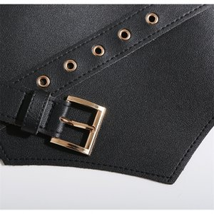 GETSRING Women Belt New Autumn Winter All Match Wide Belt Buckle Woman Fashion Vintage Cummerbunds Waist Belt Corset Leather 201117