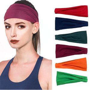 Sweatband for Men Women Elastic Sport Hairbands Head Band Yoga Headbands Headwear Headwrap Sports Hair Accessories Safety Band