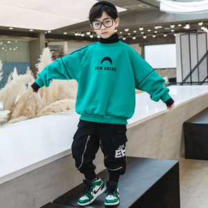 foreign Plush sweater 2020 new children's sle high collar Top boys' autumn and winter thickened base coat fashion BGMHD8OJANQXPVE4
