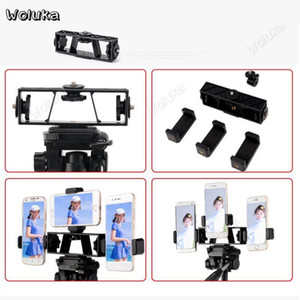 Triple Position Phone Clamp Holder Bracket For Light Stand Tripod Photography Accessories Live Vlog Camera Youtube CD50 T101