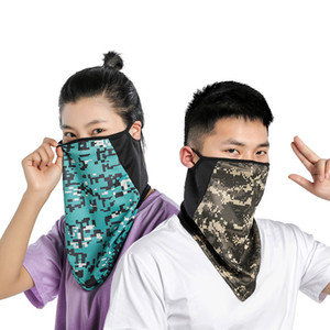 Outdoor Sports And Scarf Mens Dustproof Cycling Windproof Collar Dropshipping Scarf Ice Womens Face Mask Bicycle Triangle Silk Towel Q3 Qudt