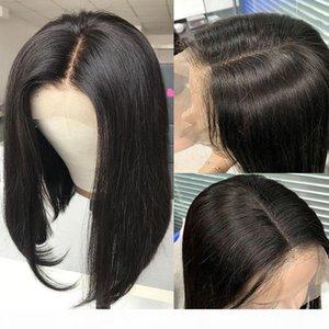 U Part Wig Bob Human Hair Straight Brazilian Glueless Virgin Hair Upart Wigs For Black Women Side Part