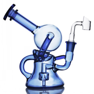 Feb Egg Bong Recycler Oil Rigs Heady Glass Water Bongs Smoking Accessories Cigarette Ash Catcher Hookahs Waterpipe With 14mm banger 7.5 inch