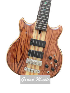 Custom Grand 4 Strings Neck Through Body Ebony Fingerboard Bass Guitar Accept Customized Project as well Logo Name on Headstock
