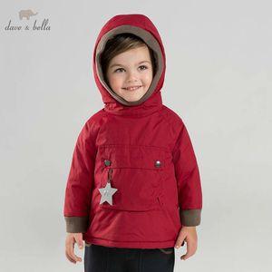 DB8891 Dave Bella Winter Baby Rellfing Jacket Niños Unisex Fashion Outerwear Kids Coat 201102