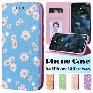 Cüzdan Telefon Kılıfı iPhone 12 Mini 11 Pro X XR XS Max 6 7 8 Artı Samsung Galaxy S20 Ultra Chrysanthemum Baskı Manyetik Atraksiyon Durum