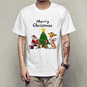 Mens Polyester Gym T Shirt Quick Dry Slim Tshirt Christmas Short Sleeve Custom Printing T-hirts