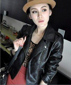 2021 Women Black Slim Cool Lady Leather Jackets Sweet Female Zipper Femme Outwear Coat Drop Shipping