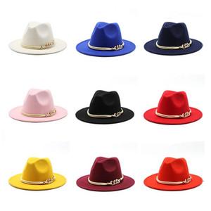 Men Formal Hat Jazz Top Hat Women Wide Brim Hats mens Panama Cap Felt Fedora caps Woman Trilby Chapeau Man Fashion Accessories NEW